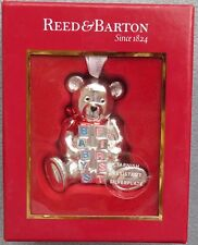Reed & Barton Baby's First Christmas Silverplate Bear Ornament New in Box