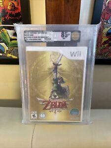 The Legend Of Zelda Skyward Sword VGA 85+ NM+ GOLD SEA/ME Nintendo Wii WATA UKG