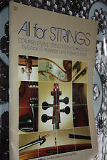 ALL FOR STRINGS COMPREHENSIVE STRING METHOD BOOK 1 GERALD ANDERSON ROBERT FROST