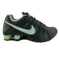 Nike Shox Junior Womens Size 7 Black Lace Up Running Shoes 454339-007