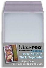 """Ultra Pro Toploader 3""""x4"""" 75pt Card Holder 25 Pack [NEW] Case Top Loader"""