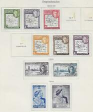10 Falkland Islands Dependencies Stamps from Quality Old Antique Album 1946-1949