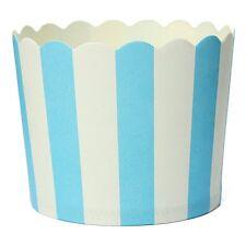 50 X Cupcake Paper Cake Case Baking Cups Dessert Cup,Blue Striped N3