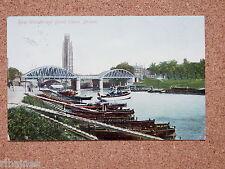 R&L Postcard: River Witham and Grand Sluice, Bridge, Boston 1906