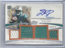 LAMAR MILLER 2012 TOPPS PRIME LEVEL 5 (V) QUAD 2 COLOR JERSEY AUTO RC #D 78/250