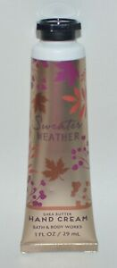 BATH & BODY WORKS SWEATER WEATHER HAND CREAM LOTION SHEA BUTTER 1OZ TRAVEL SIZE