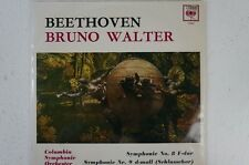 Beethoven Bruno Walter Columbia SINFONIA ORCHESTRA sinfonie 8 e 9 (lp8)