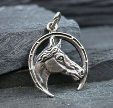 Sterling Silver 925 HORSE SHOE Good Luck Lucky Pendant