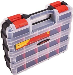 Amtech S6463 Double-Sided Storage Organiser - 34 Adjustable Compartments