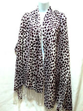 Fashion Pashmina Shawl Wrap Scarf Purple Multi Color Leopard Animal Spot Print