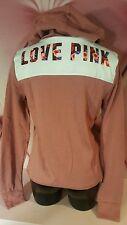 Victorias Secret PINK Hoodie Full Zip Sweatshirt Soft Begonia Tropical Graphic S