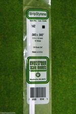 EVERGREEN STRIP STYRENE WHITE Plasticard .040 x .040 #142