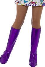 Funky GoGo Stiefelstulpen violett NEU - Zubehör Accessoire Karneval Fasching