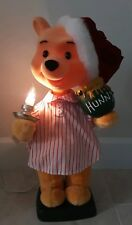 """22"""" TELCO MOTIONETTE ANIMATED WINNIE THE POOH CHRISTMAS DECOR DISPLAY LIGHTS UP"""