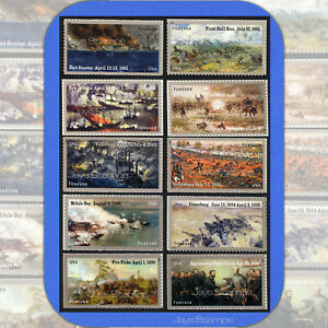 2011-2015  CIVIL WAR SESQUICENTENNIAL  Full Set of 10 Individual Forever® Stamps