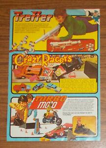 Vintage 1979 Kenner Clipper Crazy Racers Turbo Moto playset Print Ad Netherlands