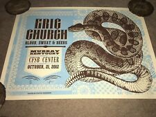 Eric Church Concert Poster From Murray, KY 10-21-12 #57/65! Blood Sweat & Beers!