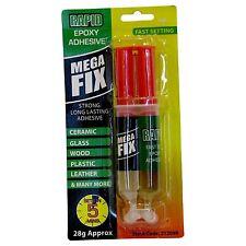 Epoxynrapid Adesivo Colla Legno Carta Metallo Plastica Vetro Super Megafix - 0166