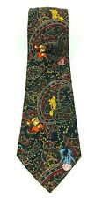 Disney Winnie The Pooh Paisley With Character Print Vintage Neck Tie 1990s