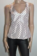 ASOS Designer Dusty Pink Polka Dot Peplum Top Size 8 BNWT #TH41