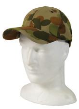 AUSCAM PEAK CAP, AUSCAM BASEBALL CAP, HUNTING CAP, CAMO HAT, CAMOUFLAGE HEADWEAR