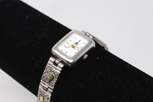 A Heavy Vintage Ladies Sterling Silver 925 Designer Quartz Wristwatch 36g #19055