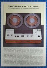 Tandberg 3000X Stereo HiFi Tonbandmaschine Informationsblatt B23047