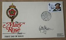 Il patrimonio Marittimo Mary Rose 1982 FDC firmata da Richard Harrison
