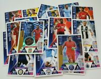 2018/19 Match Attax UEFA Soccer Cards - Lot of 20 cards inc 2 shiny