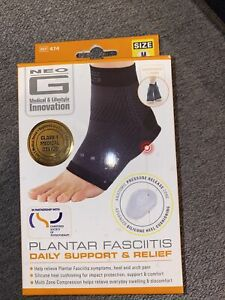 Neo G Plantar Fasciitis daily Support & Relief, Medium NEW