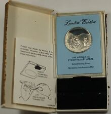 "Franklin Mint Limited Edition ""Apollo 15"" Space Sterling Silver Proof Medal"