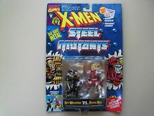 TOY BIZ - MARVEL COMICS  -X-MEN STEEL MUTANTS - SPY WOLVERINE VS. OMEGA RED