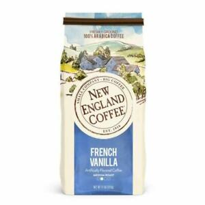 New England Coffee French Vanilla Medium Roast Ground 11 Ounce (Pack of 1)