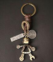 AuPra  Keyring  | Leather Vintage Keychain | Key Ring Pendant Gifts