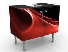 Mantiburi Red Wave Waschbeckenunterschrank Badmöbel Schrank Premium Print