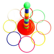 Kids Children Outdoor Plastic Ring Toss Quoits Garden Game Toy Play Set Pack Pro