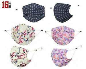 Handmade 100% Cotton Face Mask Reusable Washable Double Layer Pleated Face Mask