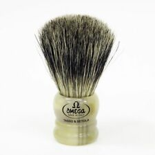 OMEGA SHAVE BRUSH #11047 Midget, Boar & Badger Bristle MIX