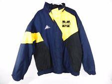 University of Michigan Apex One Jacket Puffy Navy Yellow and White Size: Large