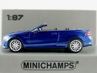 Minichamps 870 037034 Mercedes-AMG C63 Cabrio (2019) in blaumet.1:87/H0 NEU/OVP