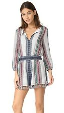 NWT ALICE + OLIVIA Nance Embroidered Tassel Colorful Stripe Romper Sz 4 NEW $330
