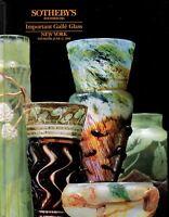 Sothebys Auction Catalog June 11 1992 Important Galle Glass