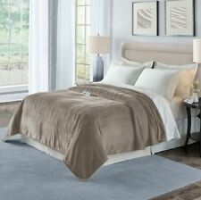 Therapedic Silky Plush Queen Warming Blanket in Stone