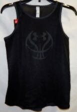 Girl's Youth Under Armour HeatGear Loose Fit Mesh Basketball Jersey Tank YSM