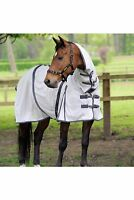Masta Zing Lightweight Mesh Fly Horse Rug with Fixed Neck Blue or White All size