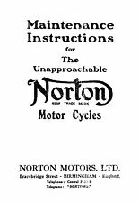 1926 Norton maintenance instruction book