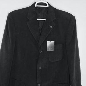 Haggar Black Label SZ 44 L Black 3 Button Premium Suit Blazer Coat Jacket