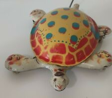 TARTARUGA LATTA  MOBO tin TOY TOISE tortoise turtle walking litho metal ENGLAND