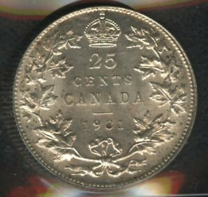 1931 Canada Twenty-Five Cents - ICCS MS-63 - Choice Uncirculated Coin