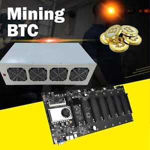 BTC-T37 Mainboard Motherboard Bitcoin Rtherum Miner ATX Mining Rig 8GPU +Gehäuse